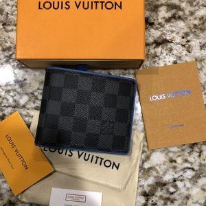 Louis Vuitton Black Graphite, Blue Lined